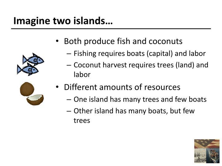 Imagine two islands…