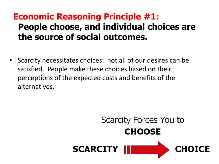 Economic Reasoning Principle #1: