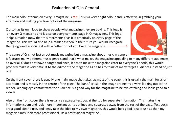 Evaluation of Q in General