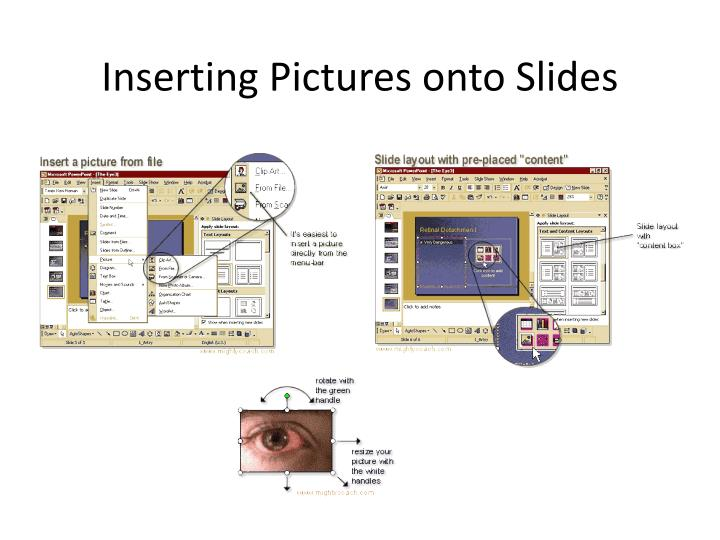 Inserting Pictures onto Slides