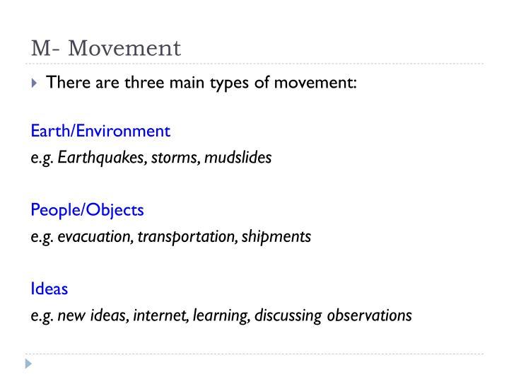 M- Movement