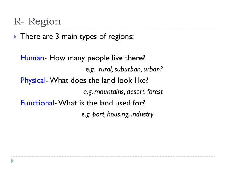 R- Region