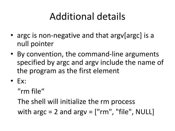 Additional details