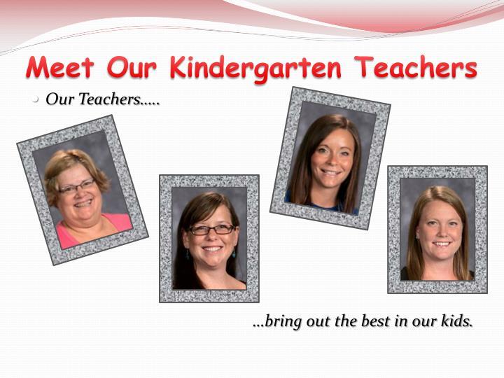 Meet Our Kindergarten Teachers