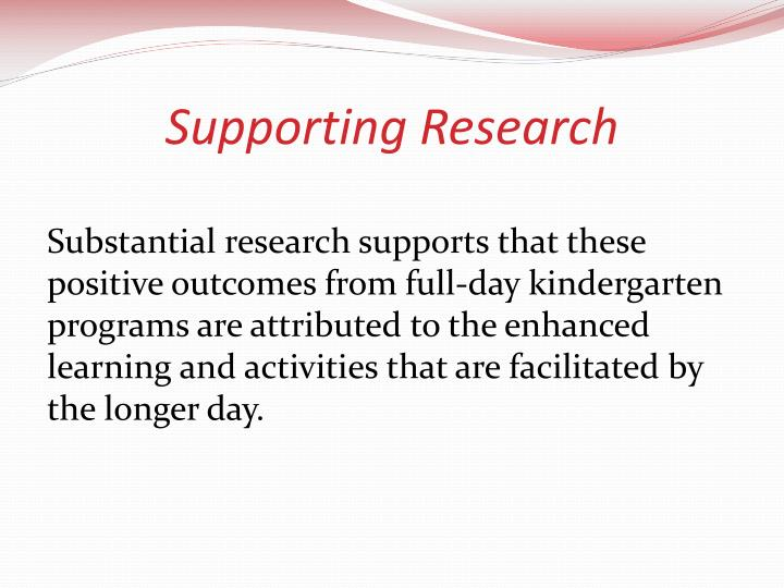 Supporting Research
