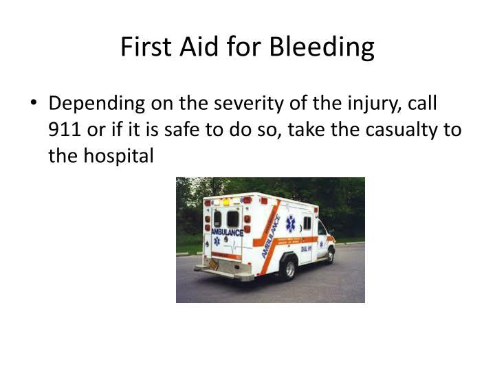 First Aid for Bleeding