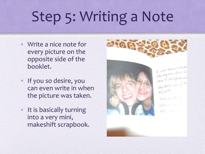Step 5: Writing a Note