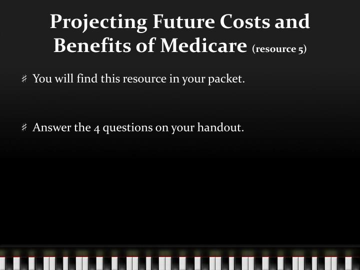Projecting Future Costs and Benefits of Medicare