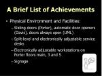 a brief list of achievements1