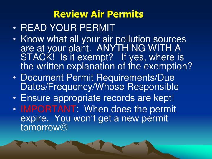 Review Air Permits