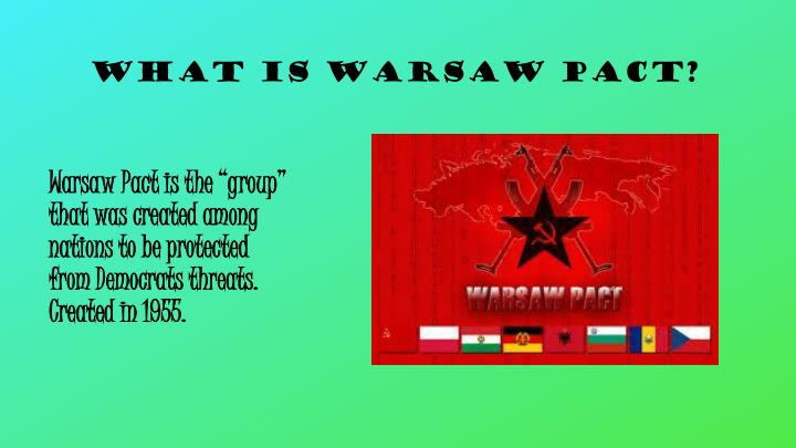What is Warsaw Pact?