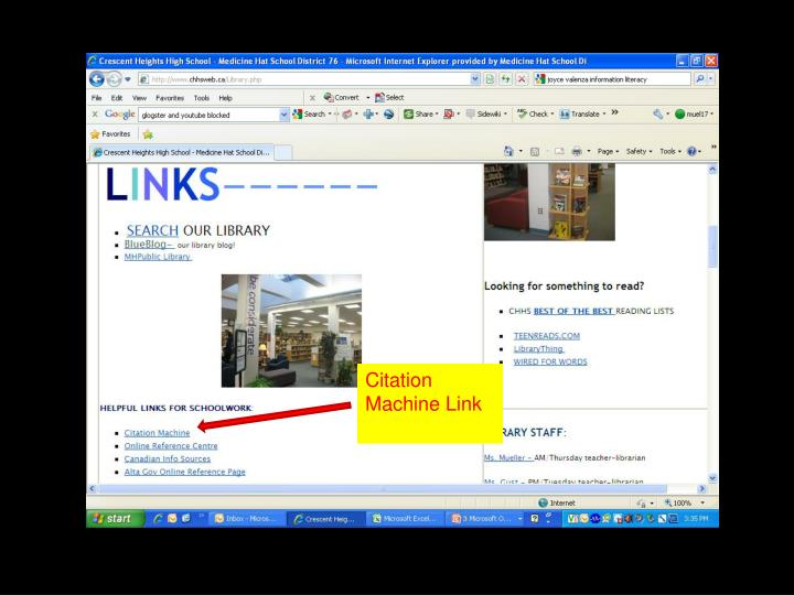 Citation Machine Link