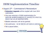 ddm implementation timeline