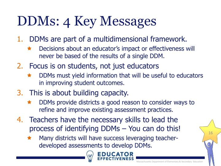 DDMs: 4 Key Messages