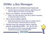 ddms 4 key messages