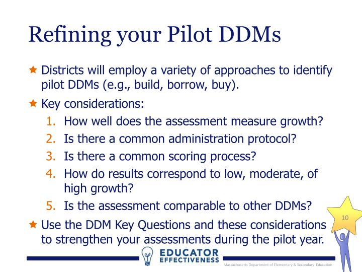 Refining your Pilot DDMs