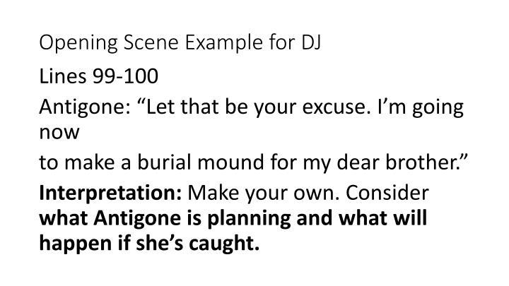Opening Scene Example for DJ