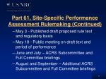 part 61 site specific performance assessment rulemaking continued
