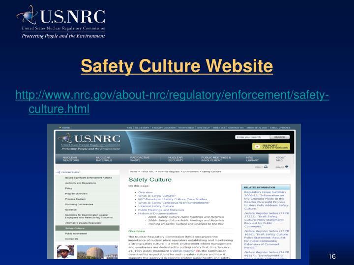 http://www.nrc.gov/about-nrc/regulatory/enforcement/safety-culture.html