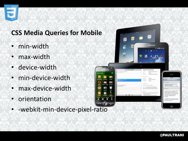 CSS Media Queries for Mobile