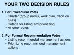your two decision rules