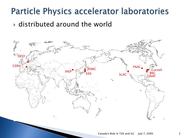 Particle physics accelerator laboratories