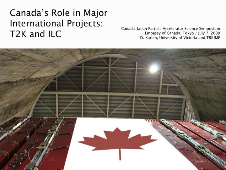 Canada's Role in Major International Projects: