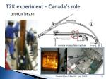 t2k experiment canada s role