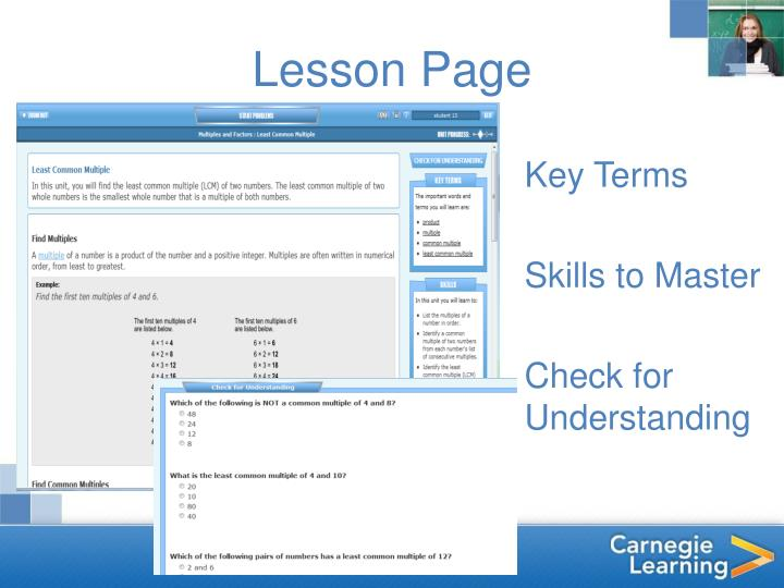 Lesson Page
