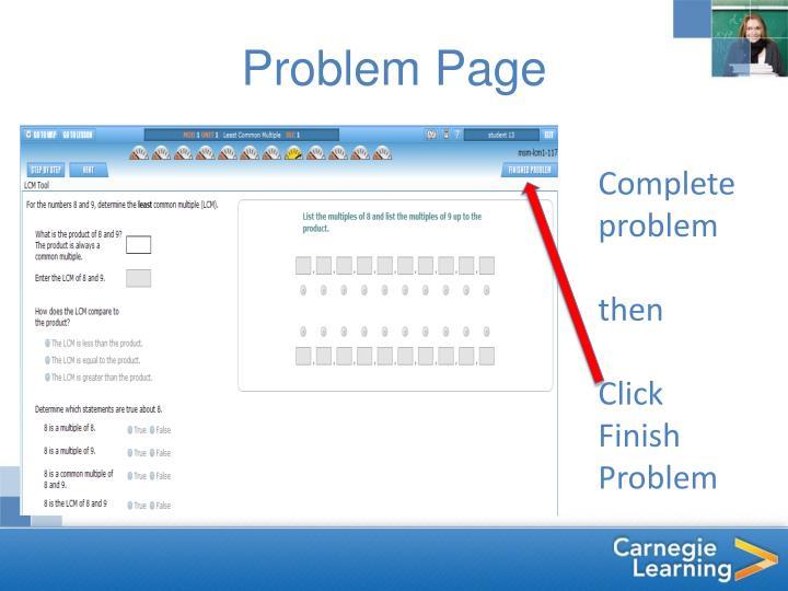 Problem Page