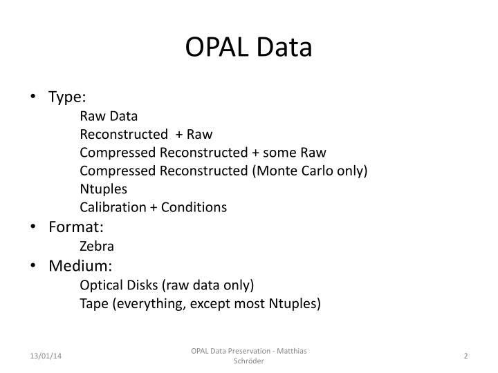 OPAL Data