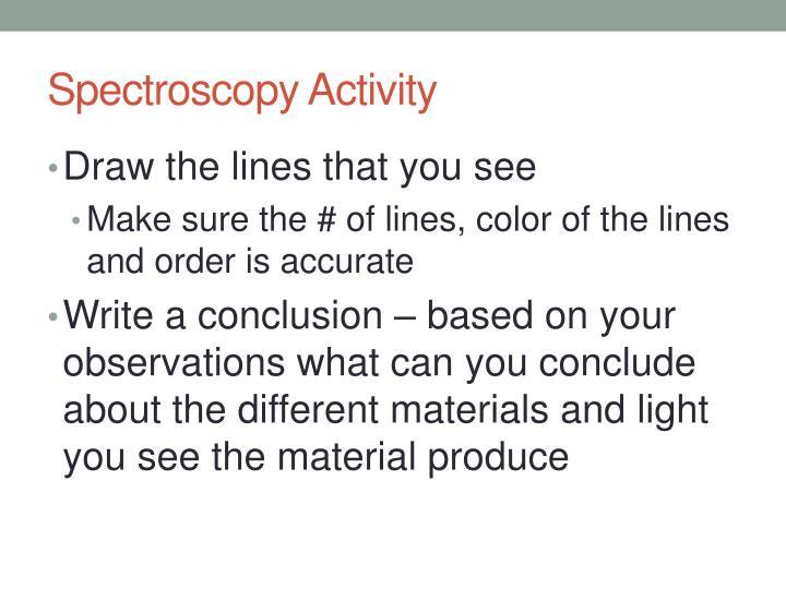Spectroscopy Activity
