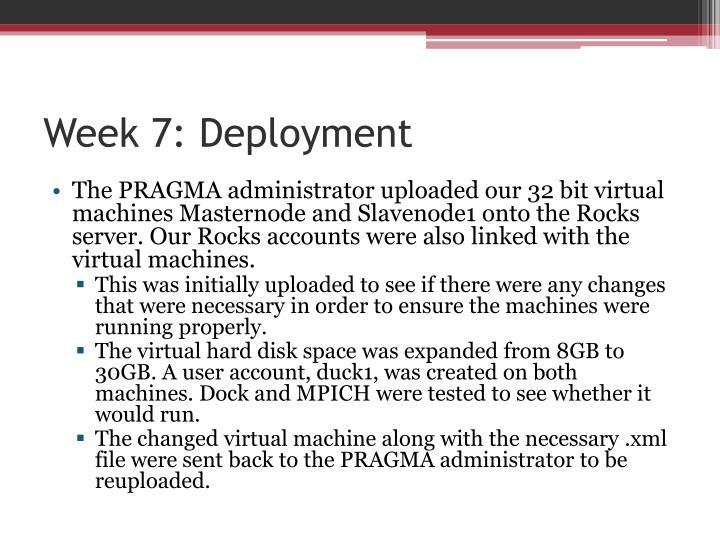 Week 7: Deployment