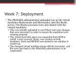week 7 deployment