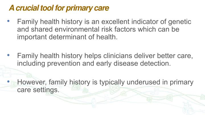 A crucial tool for primary care