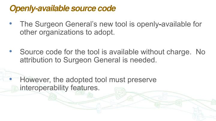 Openly-available source code