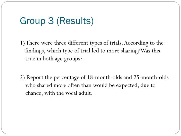 Group 3 (Results)