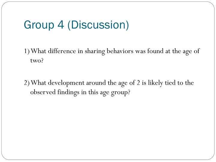 Group 4 (Discussion)