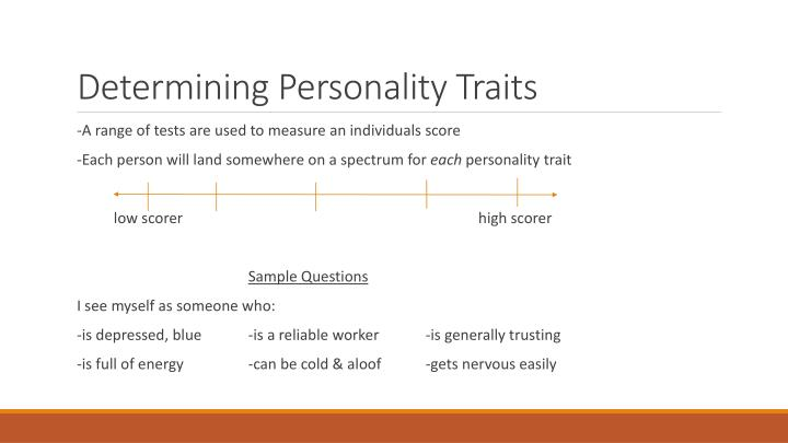 Determining Personality Traits