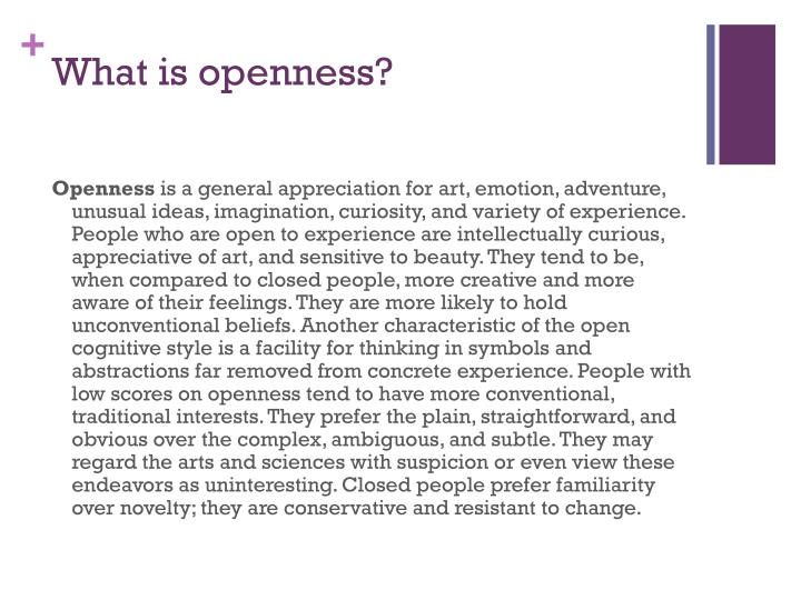 What is openness