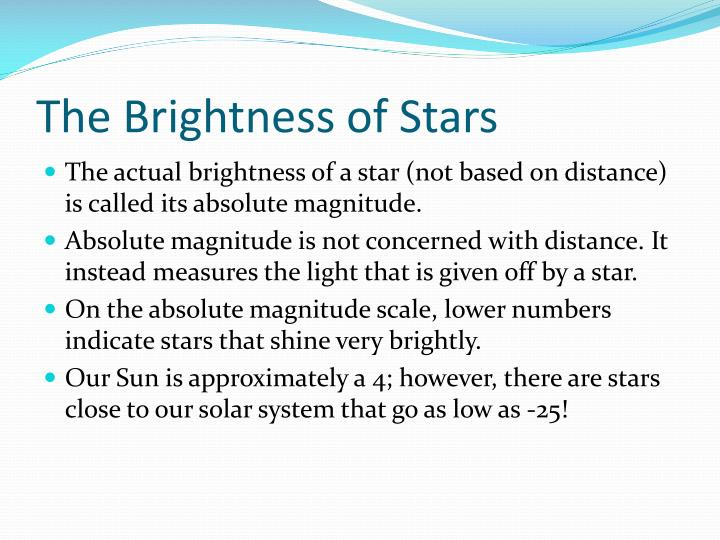 The Brightness of Stars