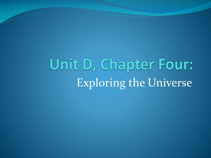 Unit d chapter four