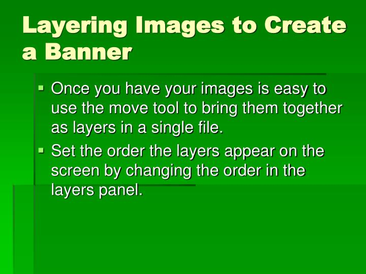 Layering Images to Create a Banner