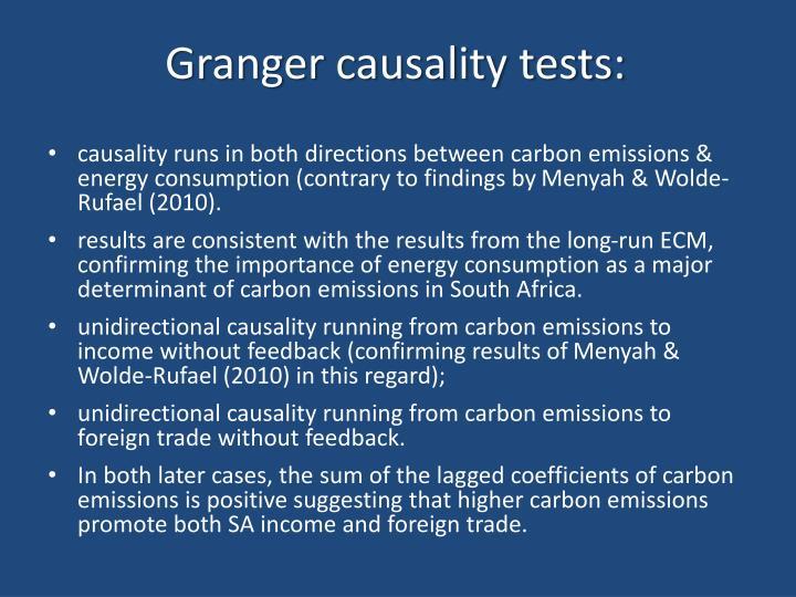 Granger causality