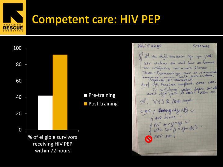 Competent care: HIV PEP