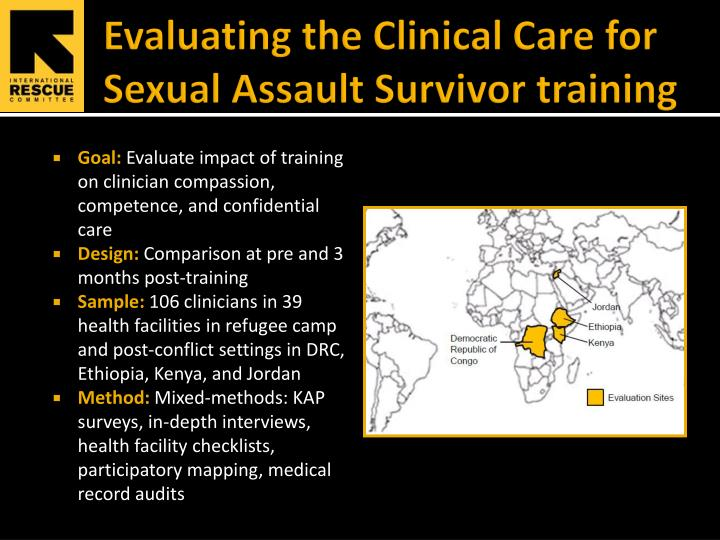 Evaluating the Clinical Care for Sexual Assault Survivor training