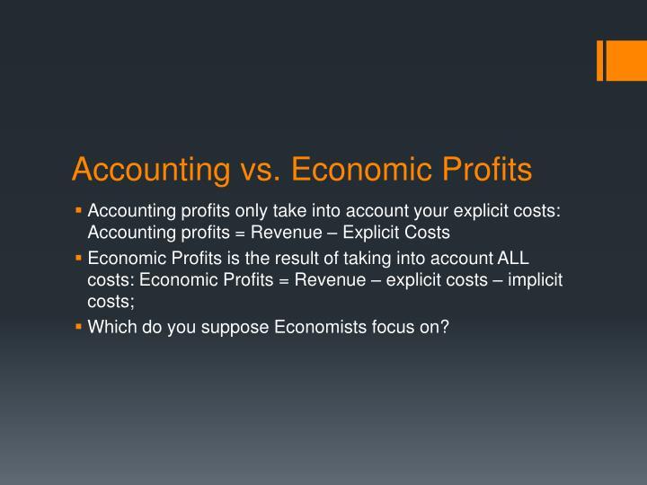 Accounting vs. Economic Profits