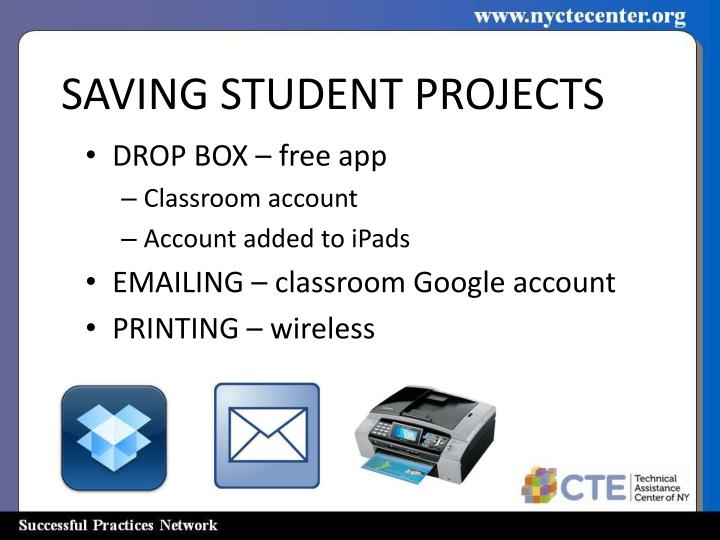 SAVING STUDENT PROJECTS