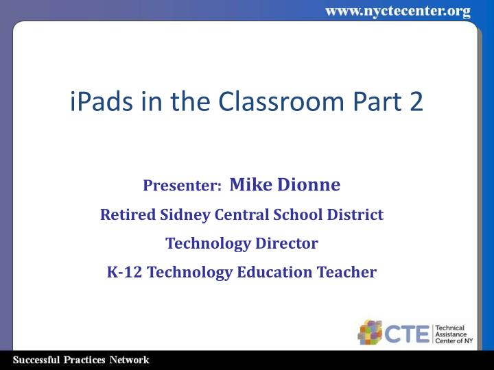 iPads in the Classroom Part 2