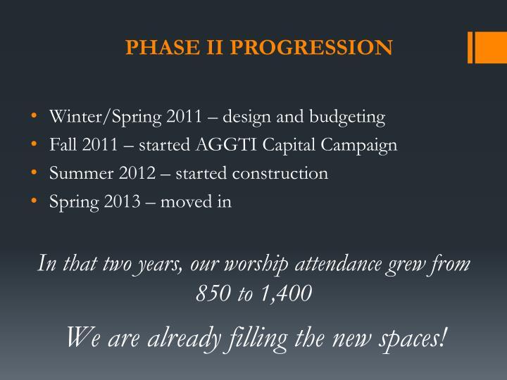 Phase II Progression